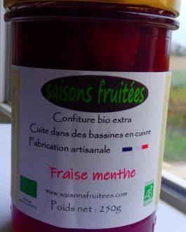 Confiture de fraise menthe